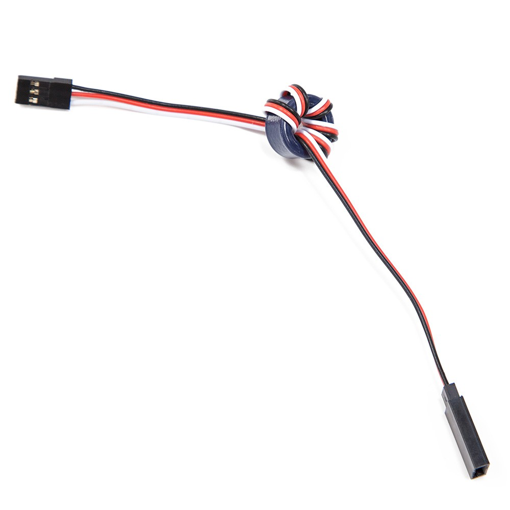 Easily wrap a standard servo cable without removing the connectors.