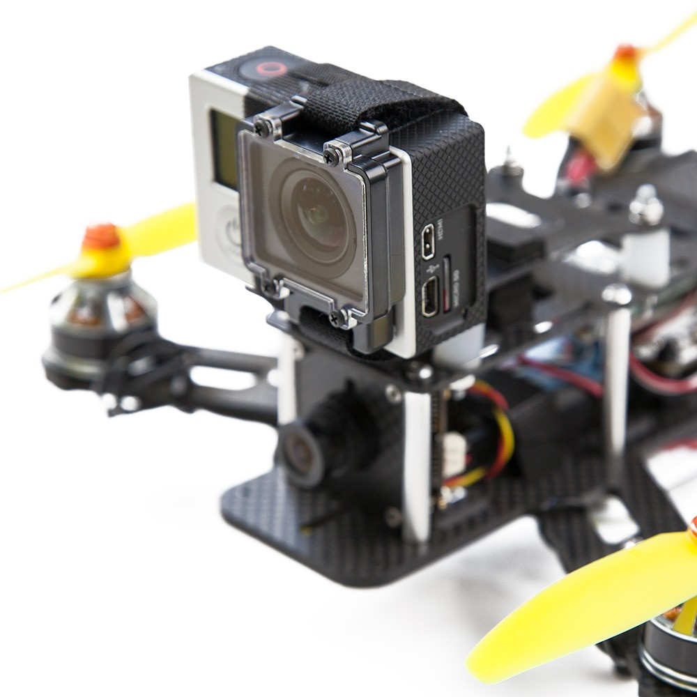 Shown with a GoPro camera mounted.