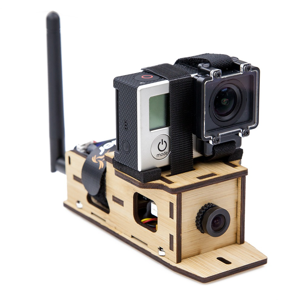 GoPro top mounting plate included for easy GoPro camera mounting.
