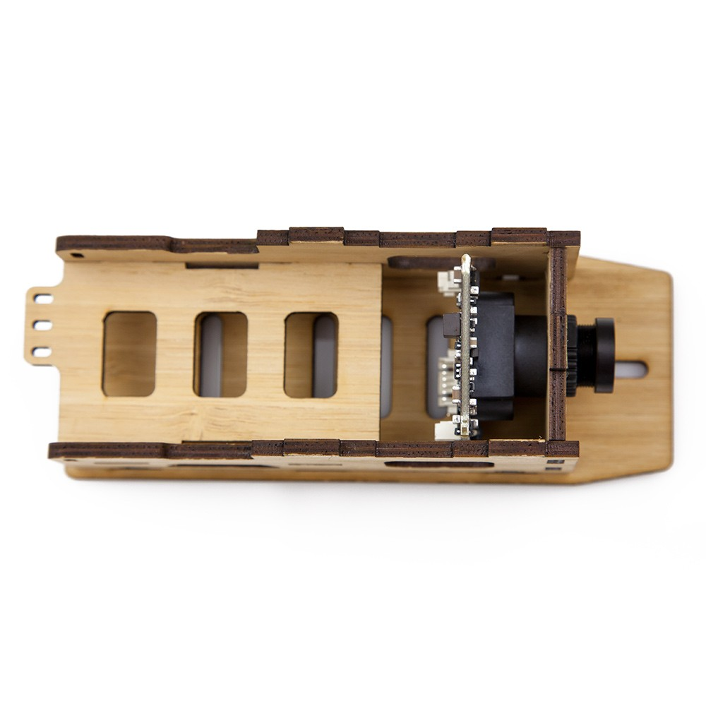 Easy installation of a 32mm board camera. Also supports cased cameras with multiple mounting options.