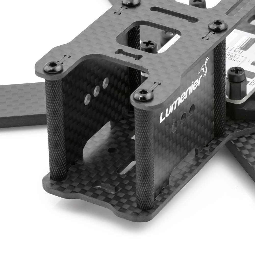 Custom aluminum spacers with textured knurling for grip.