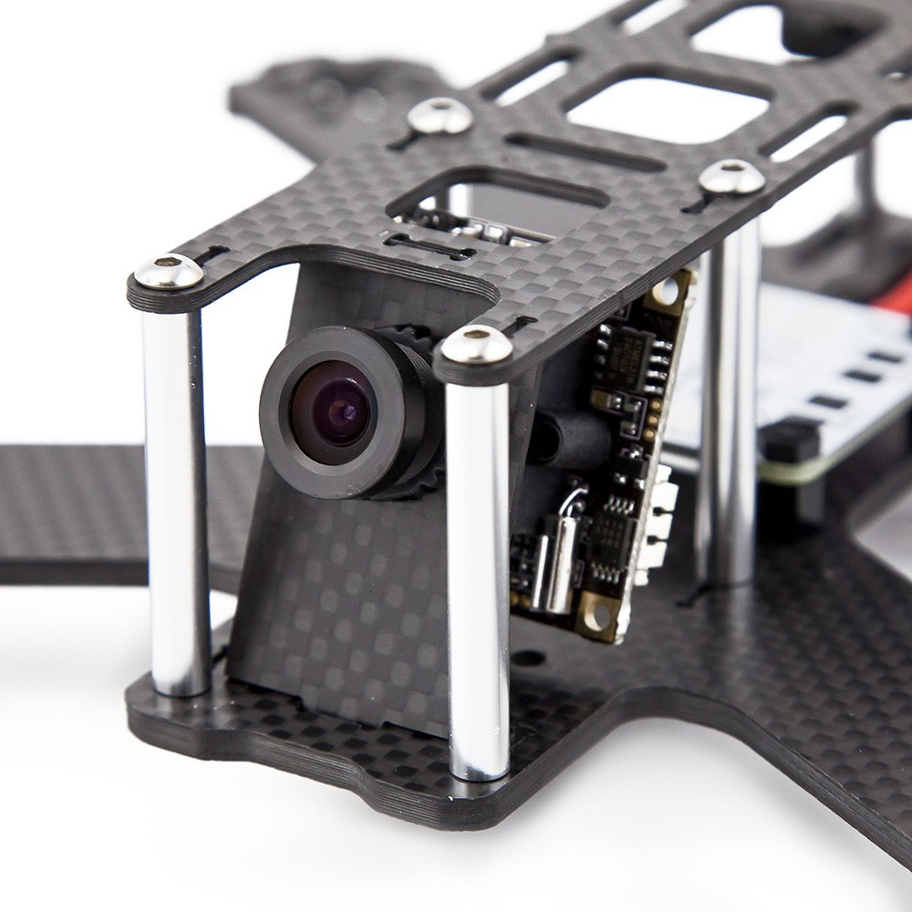 Optional board camera mounting plate tilted at 20 degrees.