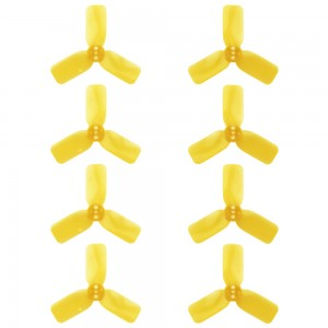 """DYS 2"""" 3 Blade, Yellow Propeller - Set of 8 (4x CW, 4x CCW)"""