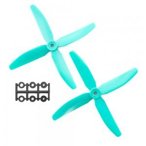 HQProp 5x4x4R Skitzo CW Propeller - 4 Blade (2 Pack - Blue)