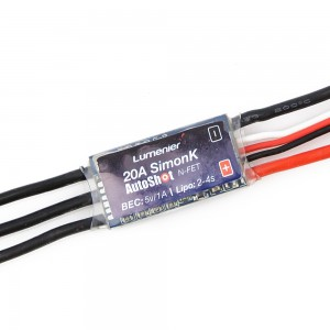 Lumenier Mini 20A ESC w/ SimonK AutoShot, 5V/1A BEC (2-4s)